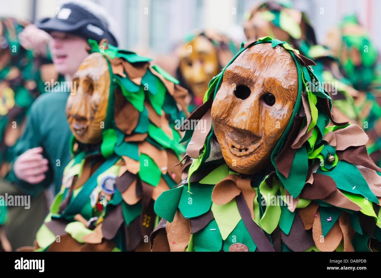 Fasnact spring carnival parade, Weil am Rhein, Germany, Europe - Stock Image