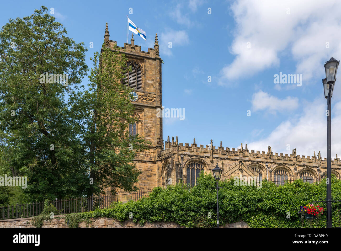 St Mary's church Mold North Wales. Clwyd - Stock Image