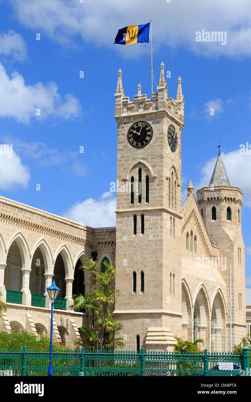 Parliament Building, Bridgetown, Barbados, West Indies, Caribbean, Central America - Stock Image