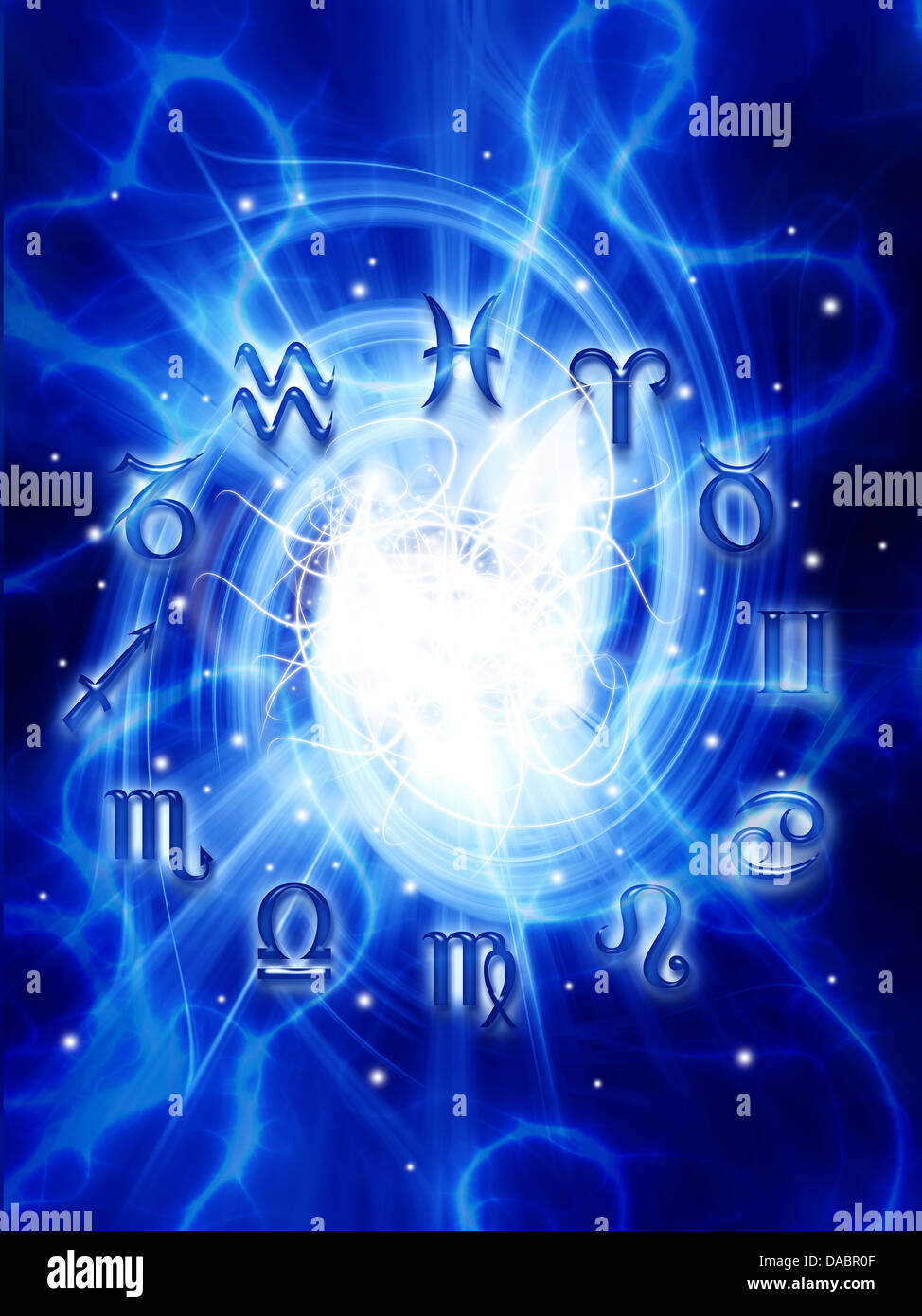 astrology and zodiac signs - Stock Image