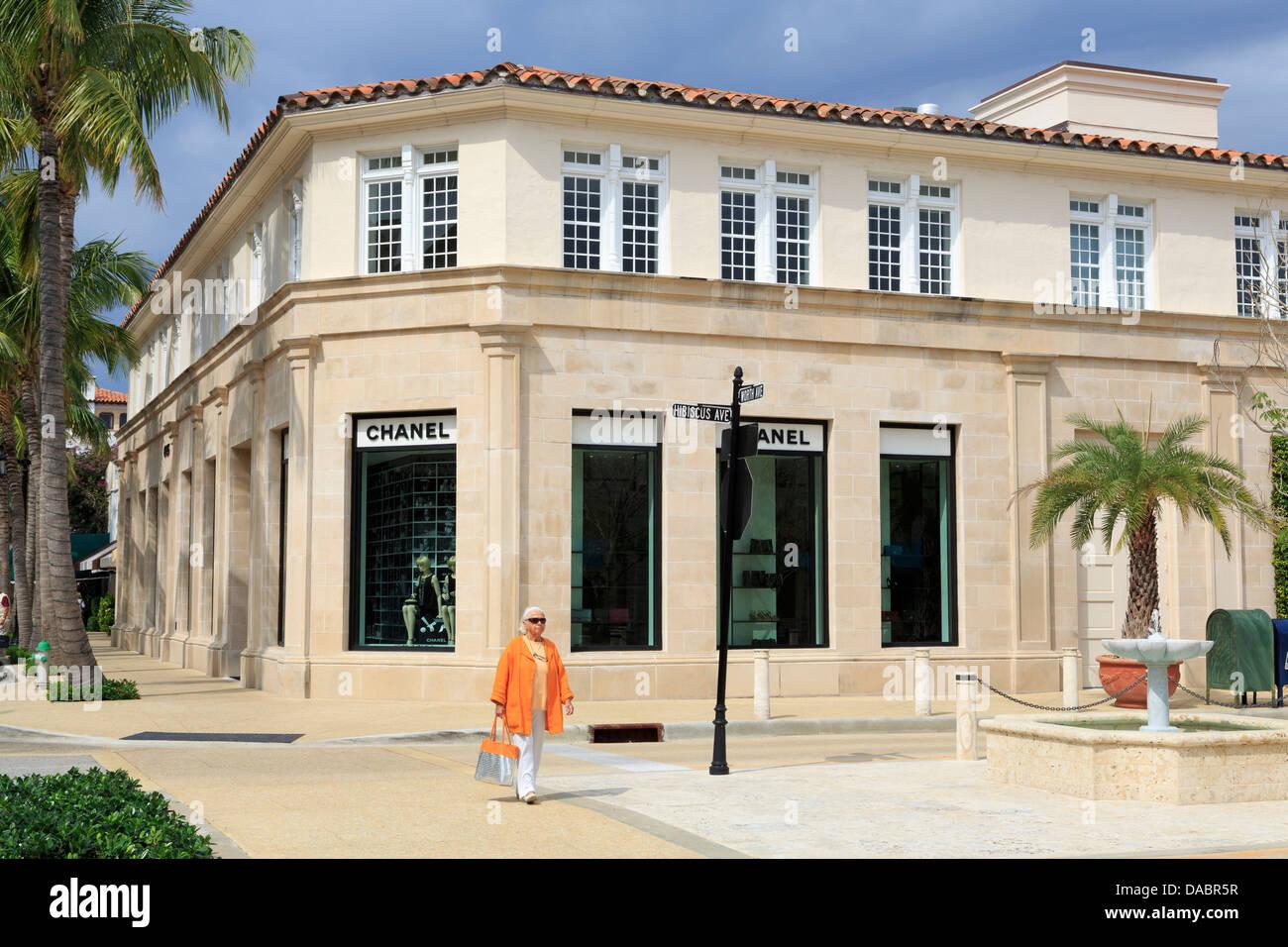 Store on Worth Avenue, Palm Beach, Florida, United States of America, North America Stock Photo