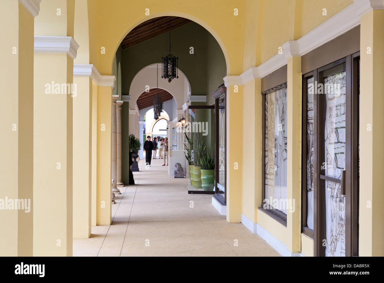 Worth Avenue, Palm Beach, Florida, United States of America, North America Stock Photo