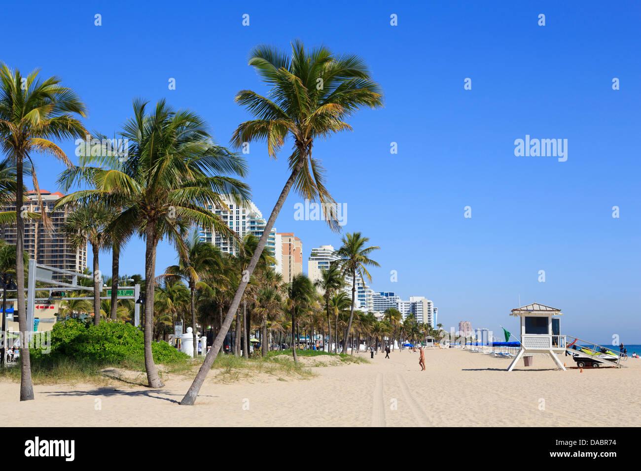 Beach on Ocean Boulevard, Fort Lauderdale, Florida, United States of America, North America Stock Photo