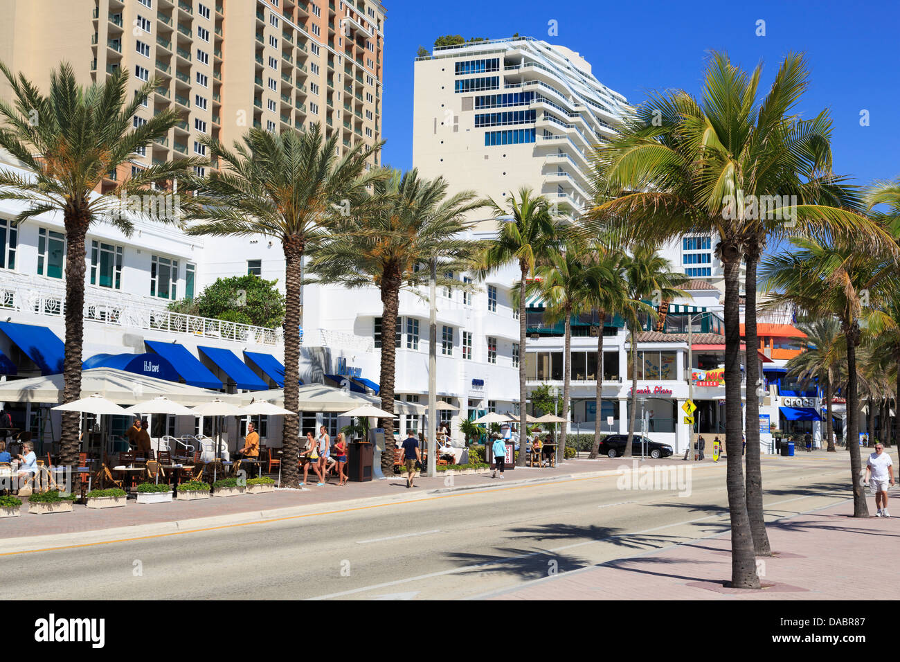 Ocean Boulevard, Fort Lauderdale, Florida, United States of America, North America Stock Photo