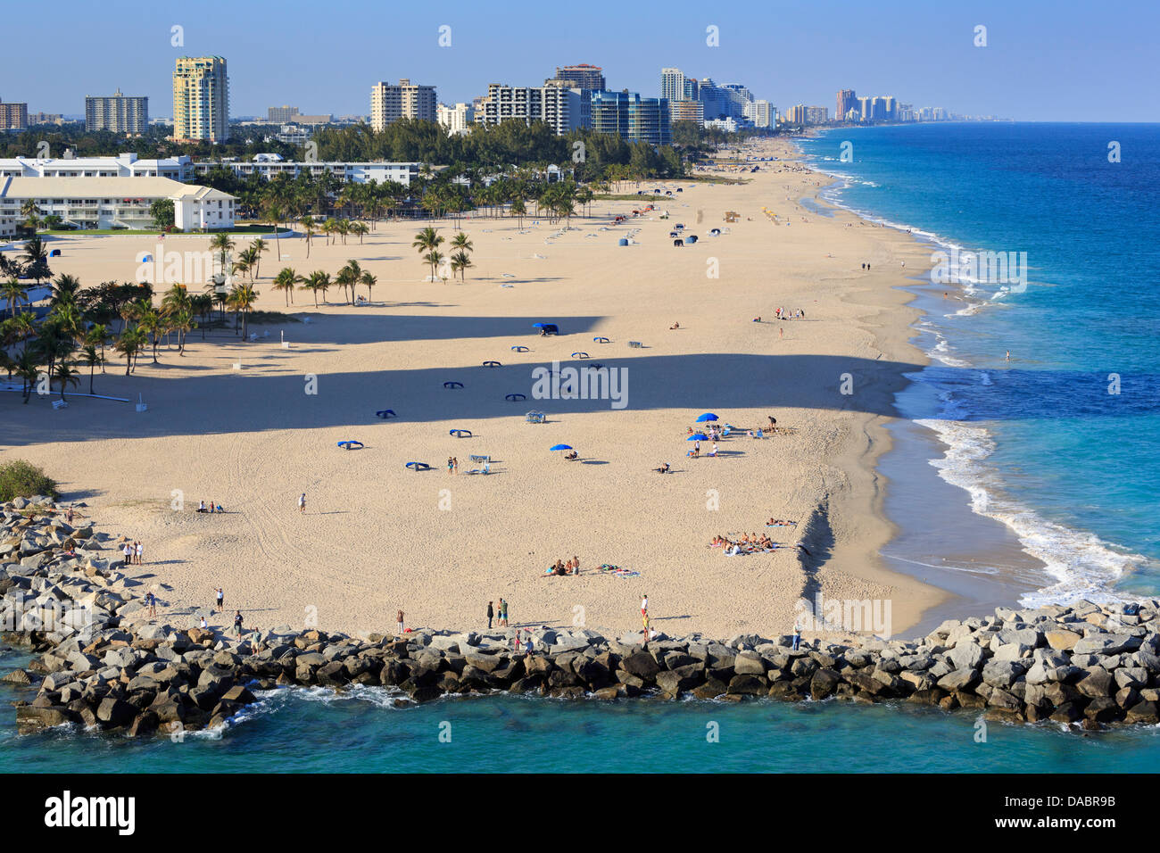Fort Lauderdale Beach, Florida, United States of America, North America Stock Photo