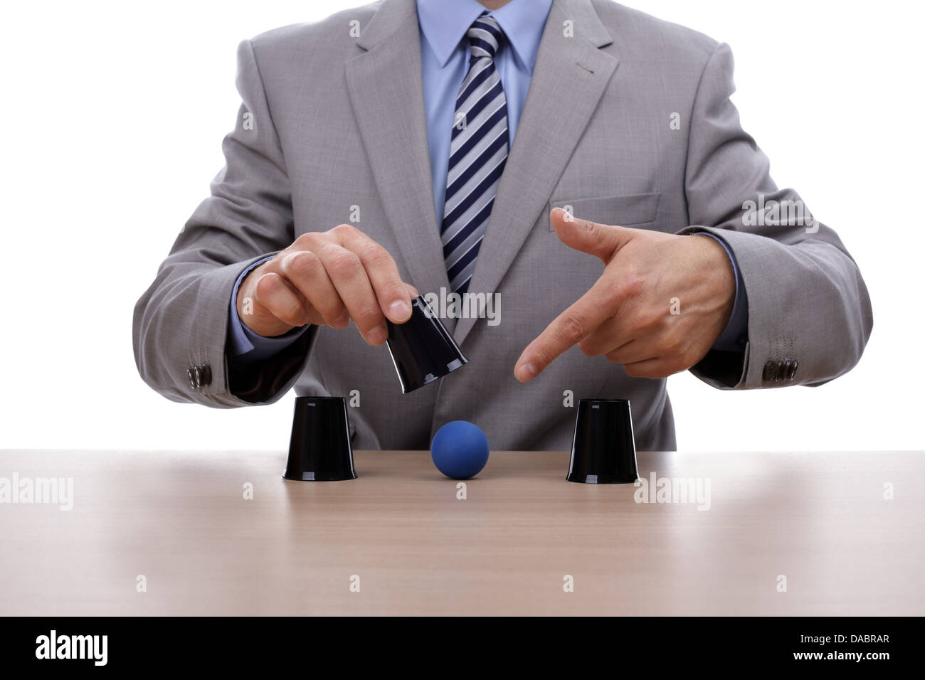 Shell game - Stock Image