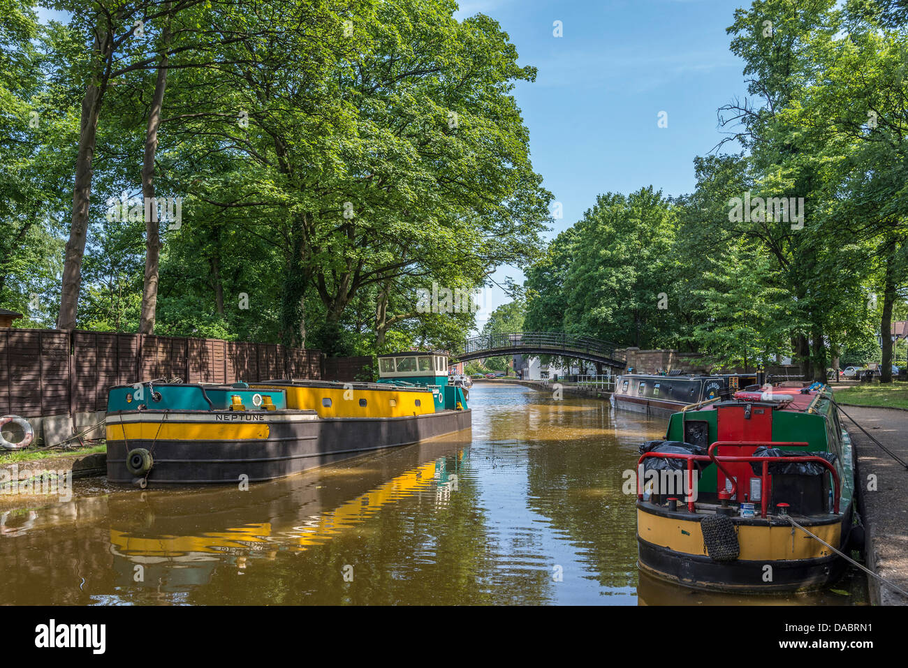 The Bridgewater canal at Worsley , Manchester, North West England. - Stock Image