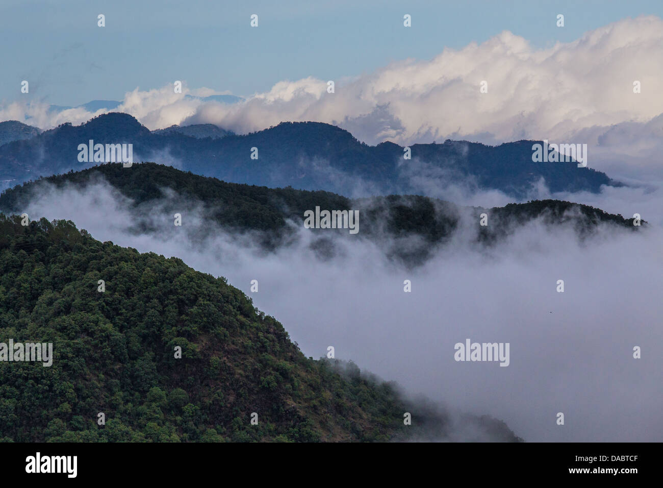 View from Mussoorie, India - Stock Image