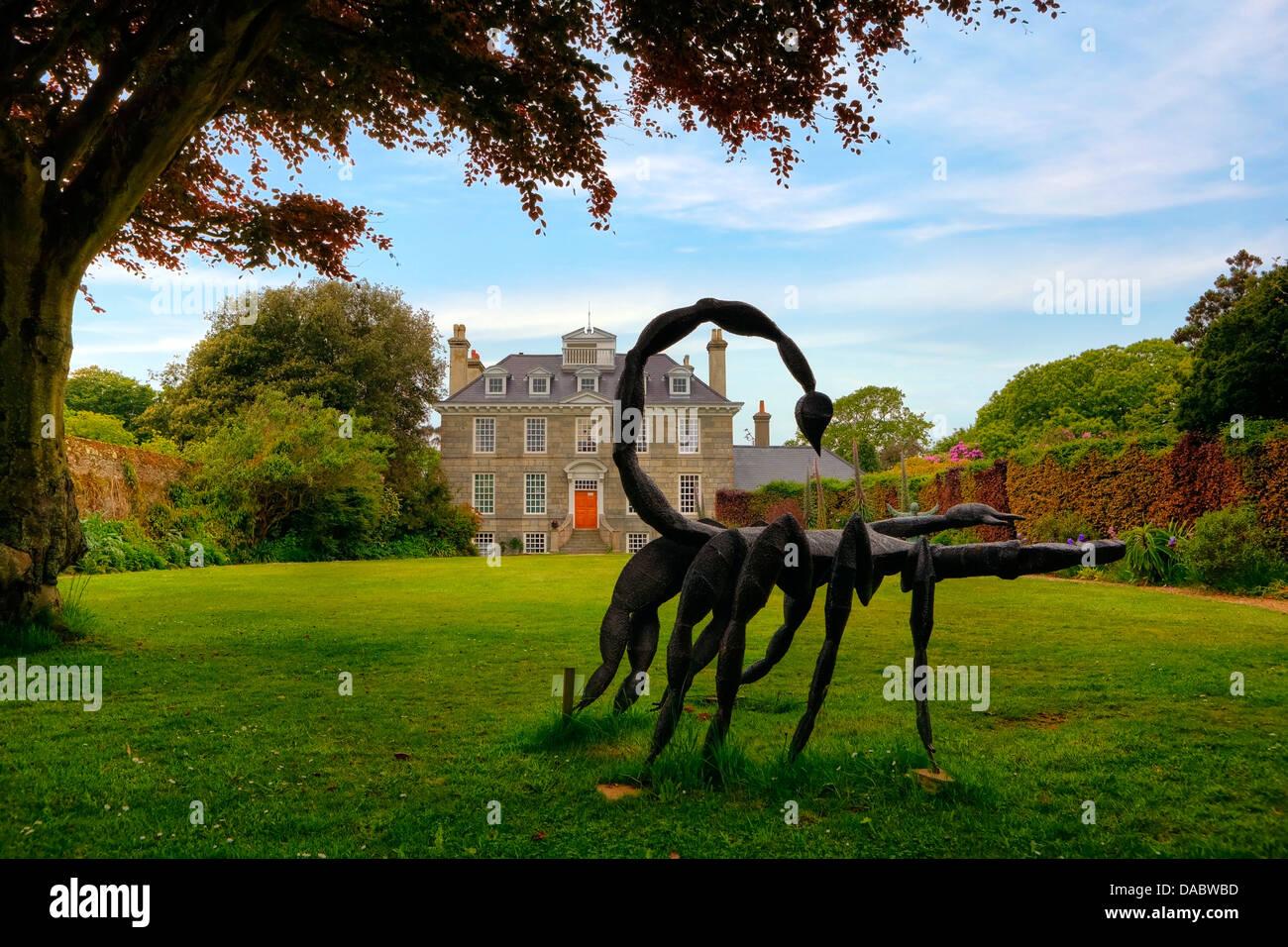 Sausmarez Manor, Guernsey, United Kingdom - Stock Image
