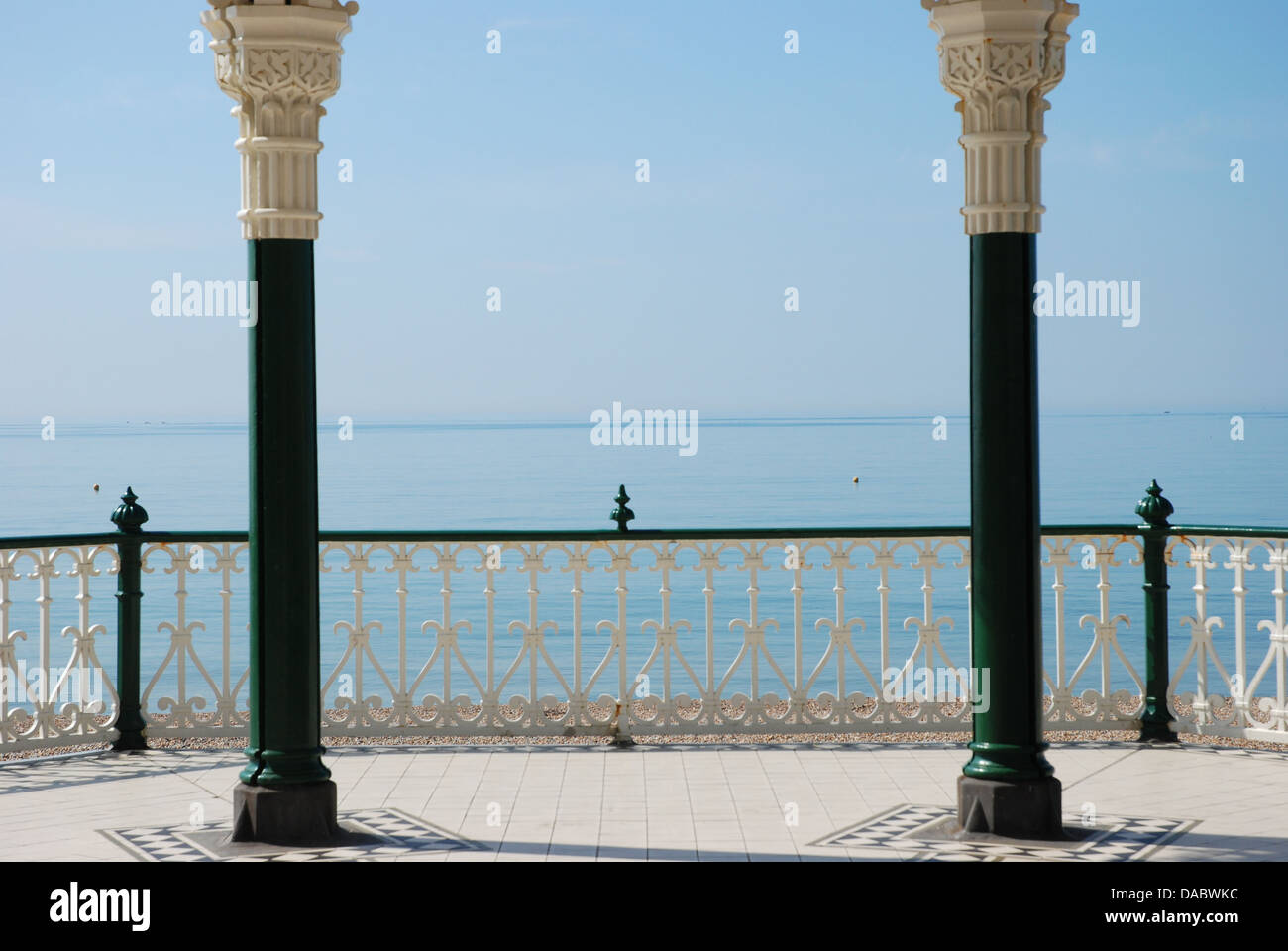 Beautiful sea view from Brighton bandstand - Stock Image