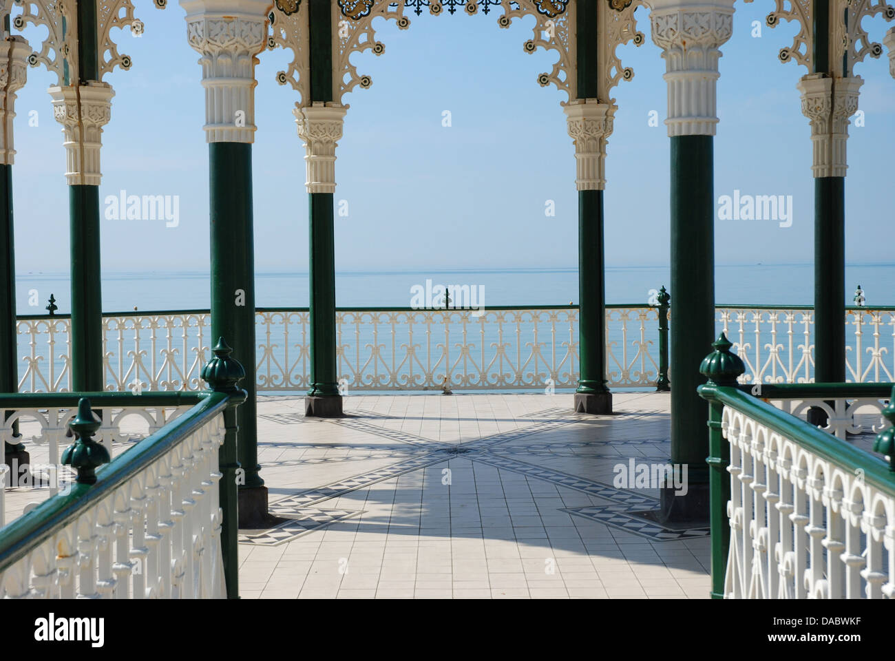 sea view from Brighton bandstand Stock Photo