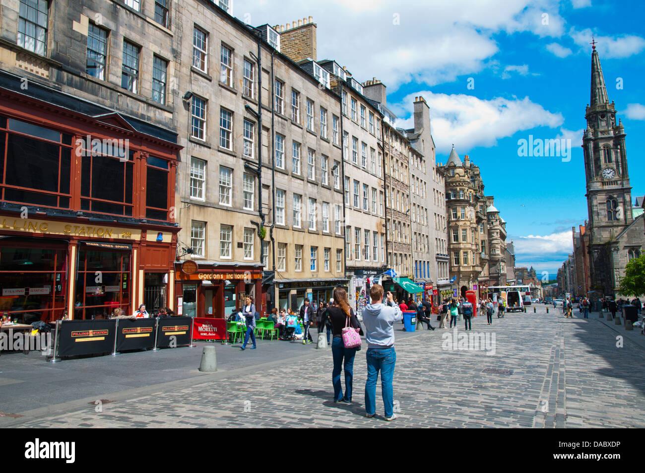 Royal Mile old town Edinburgh Scotland Britain UK Europe - Stock Image