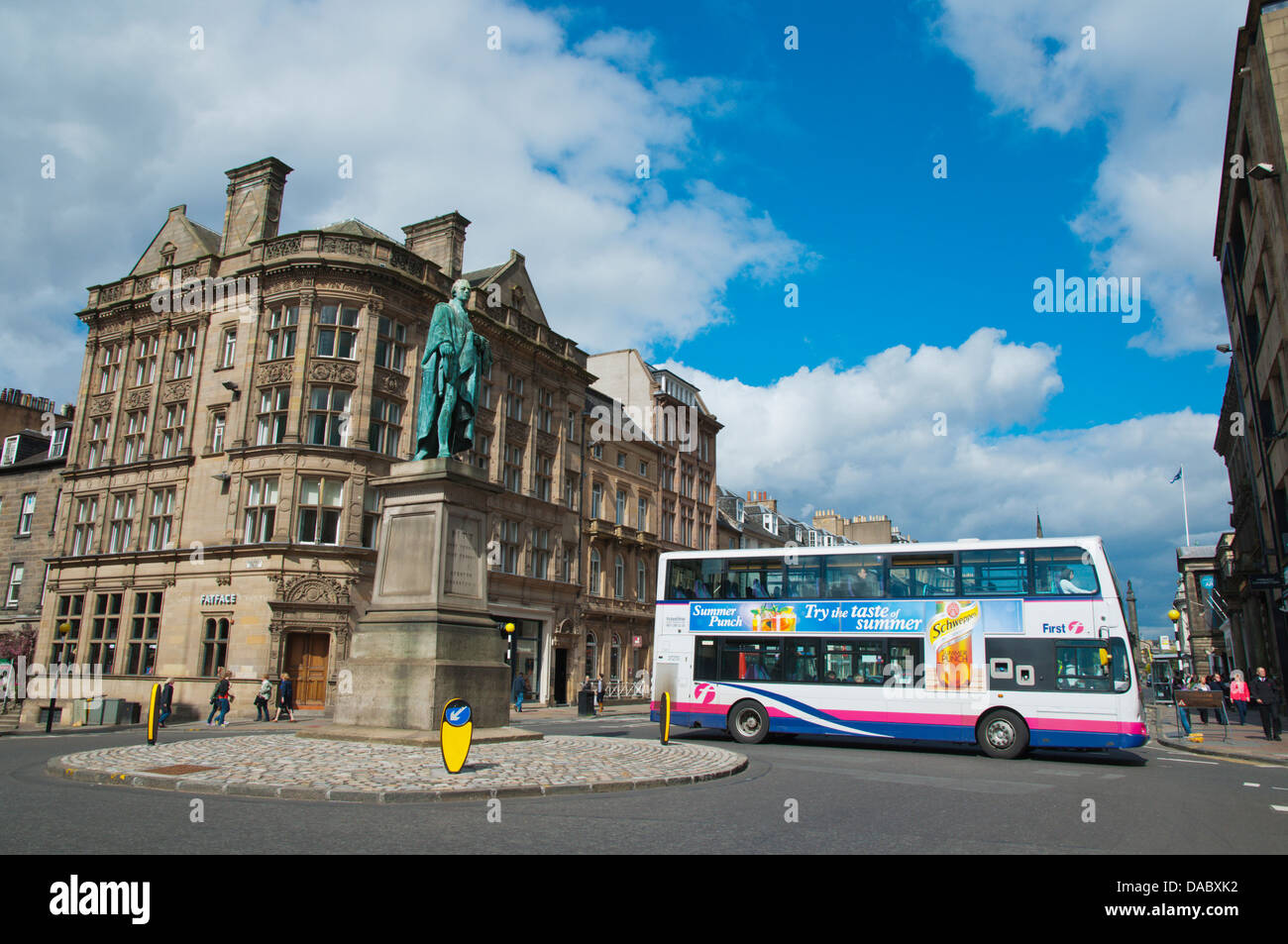Junction of George and Hanover Streets in New Town central Edinburgh Scotland Britain UK Europe - Stock Image