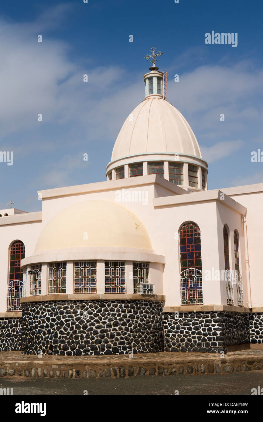 Er011 Africa, Eritrea, Massawa, Tualud Island, St Mary's Cathedral Church - Stock Image