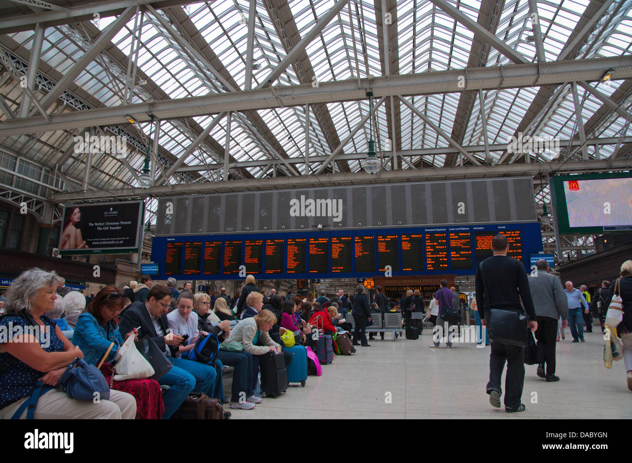 Central station Glasgow Scotland Britain UK Europe Stock Photo