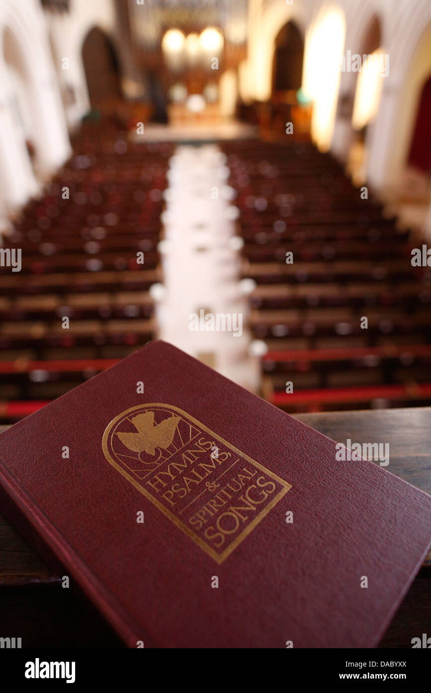 Hymns, psalms and spiritual songs, The American Church in Paris, France, Europe - Stock Image