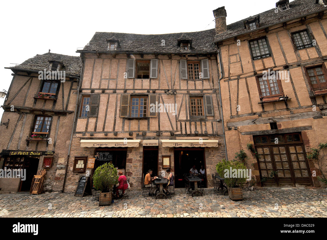 Village of Conques, Aveyron, Midi-Pyrenees, France, Europe - Stock Image