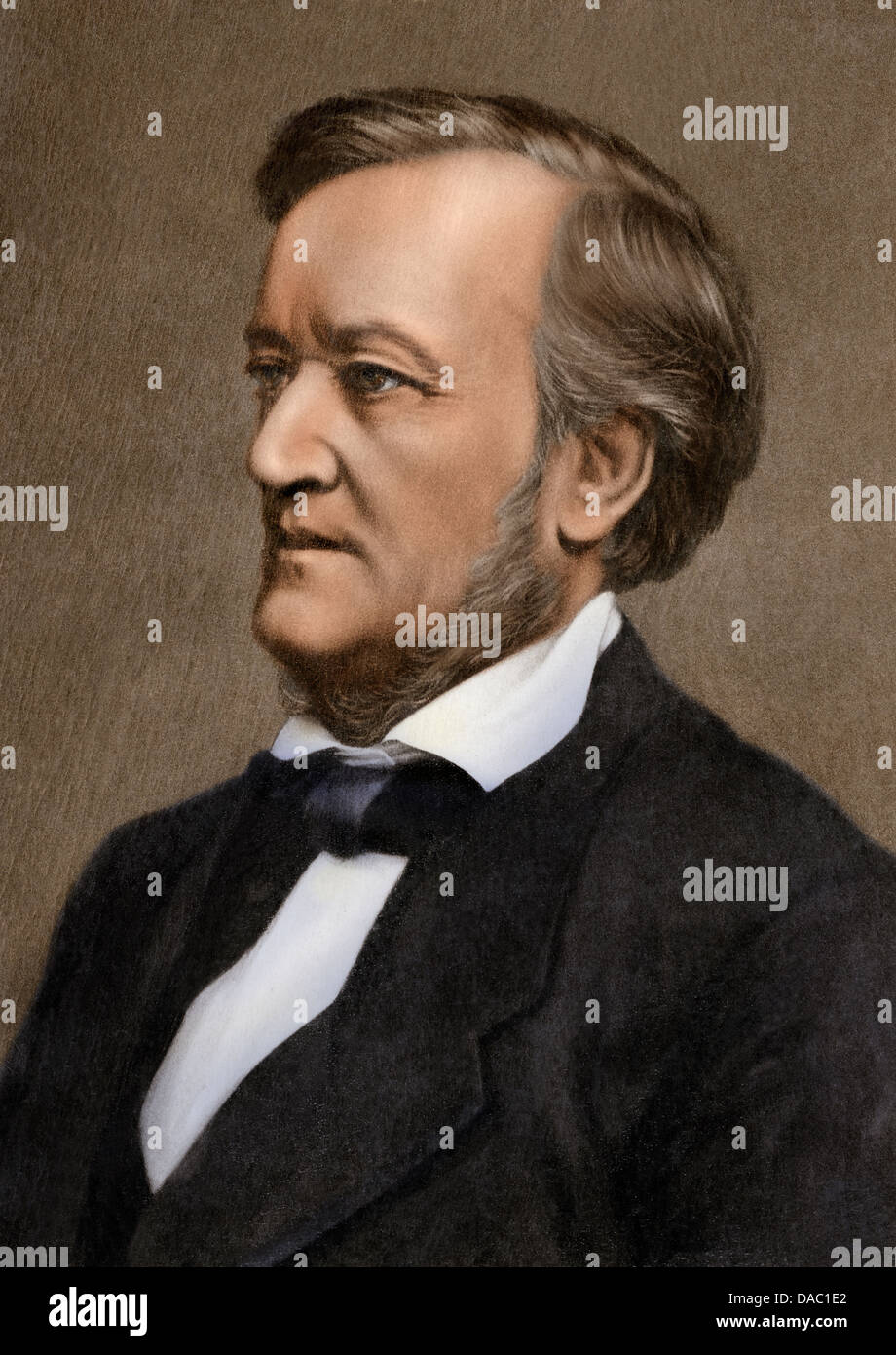 Composer Richard Wagner. Digitally colored photograph - Stock Image