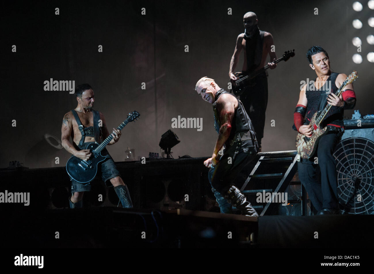 Rome, Italy. 09th July, 2013.  Metal rock band Rammstein, Rome (Italy) concert, 09-07-2013 Credit:  Roberto Nistri/Alamy Stock Photo