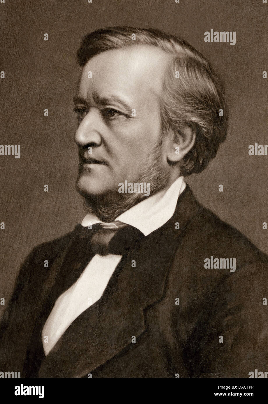 Photograph of composer Richard Wagner. Photograph - Stock Image