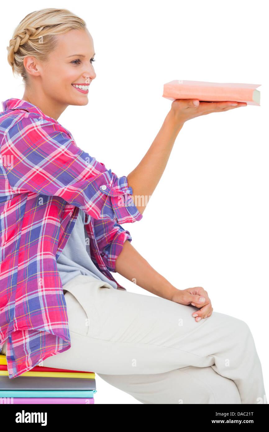 woman balancing check book stock photos woman balancing check book