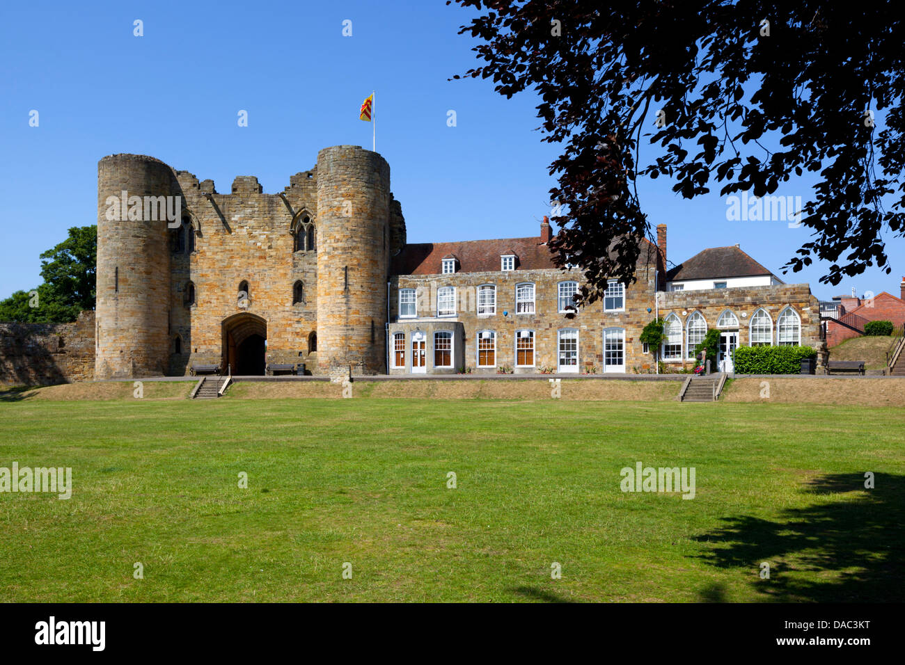 Tonbridge Castle, Tonbridge, Kent, England, UK - Stock Image