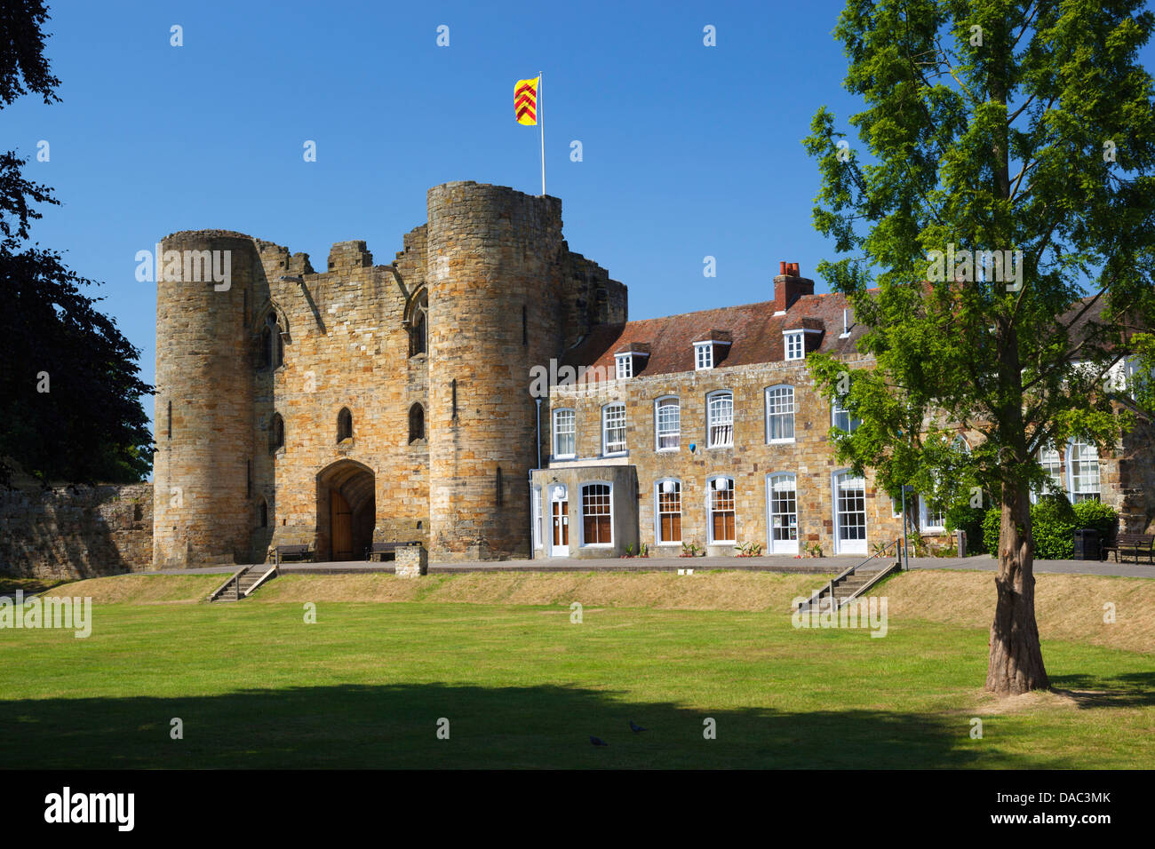 Tonbridge Castle, Tonbridge, Kent, England, United Kingdom, Europe - Stock Image