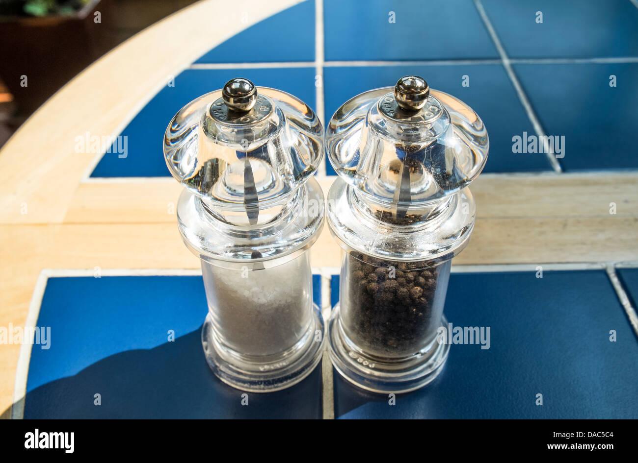 Salt and pepper mills, grinders - Stock Image