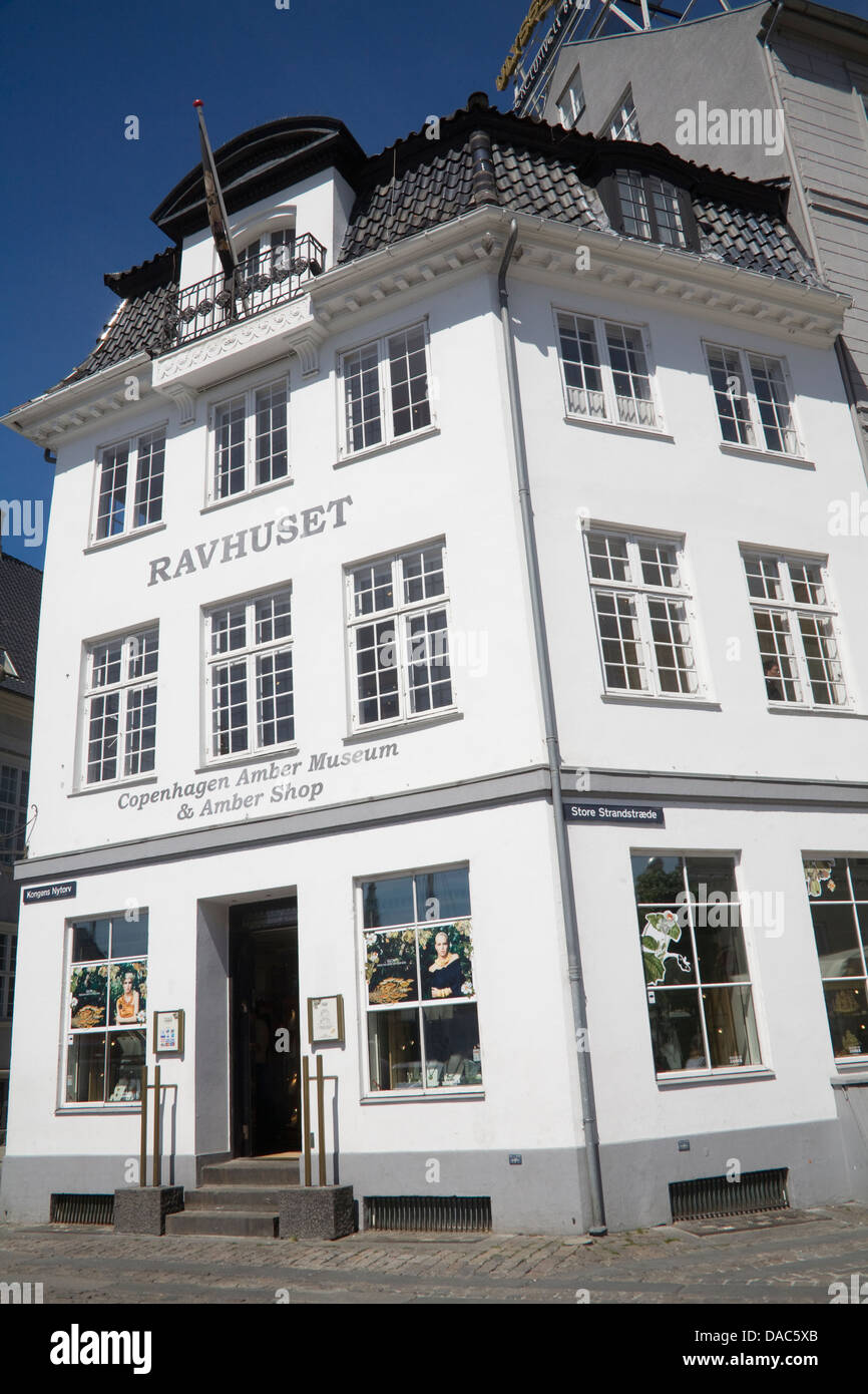 Copenhagen Denmark EU Amber Museum and Shop in Kongens Nytorv - Stock Image