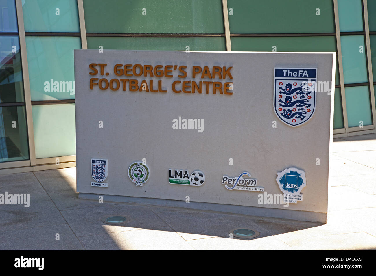 St George's Park, the English Football FA national football centre at Burton upon Trent Staffordshire - Stock Image