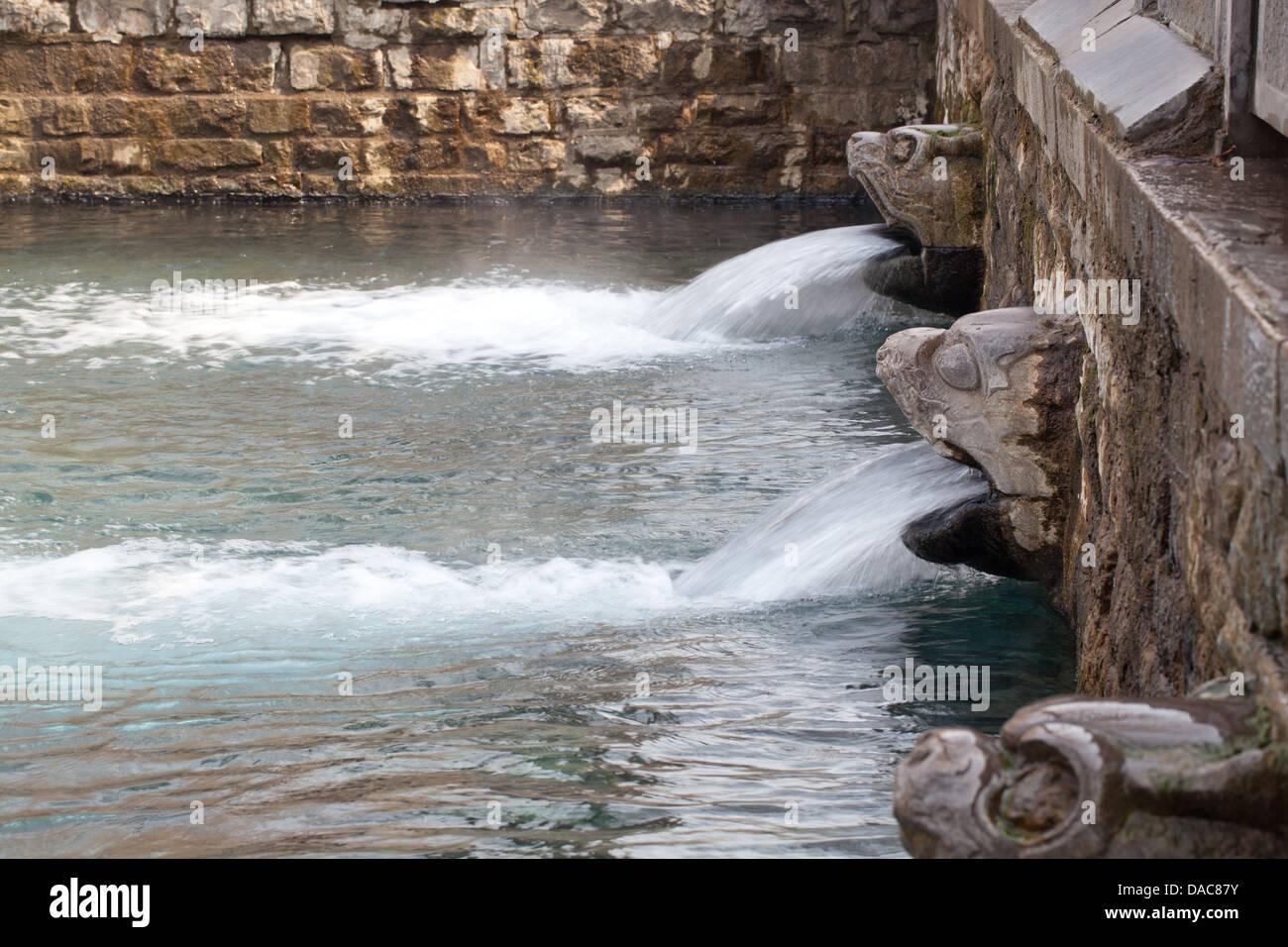 Urban Park - springs. water seepage - Stock Image