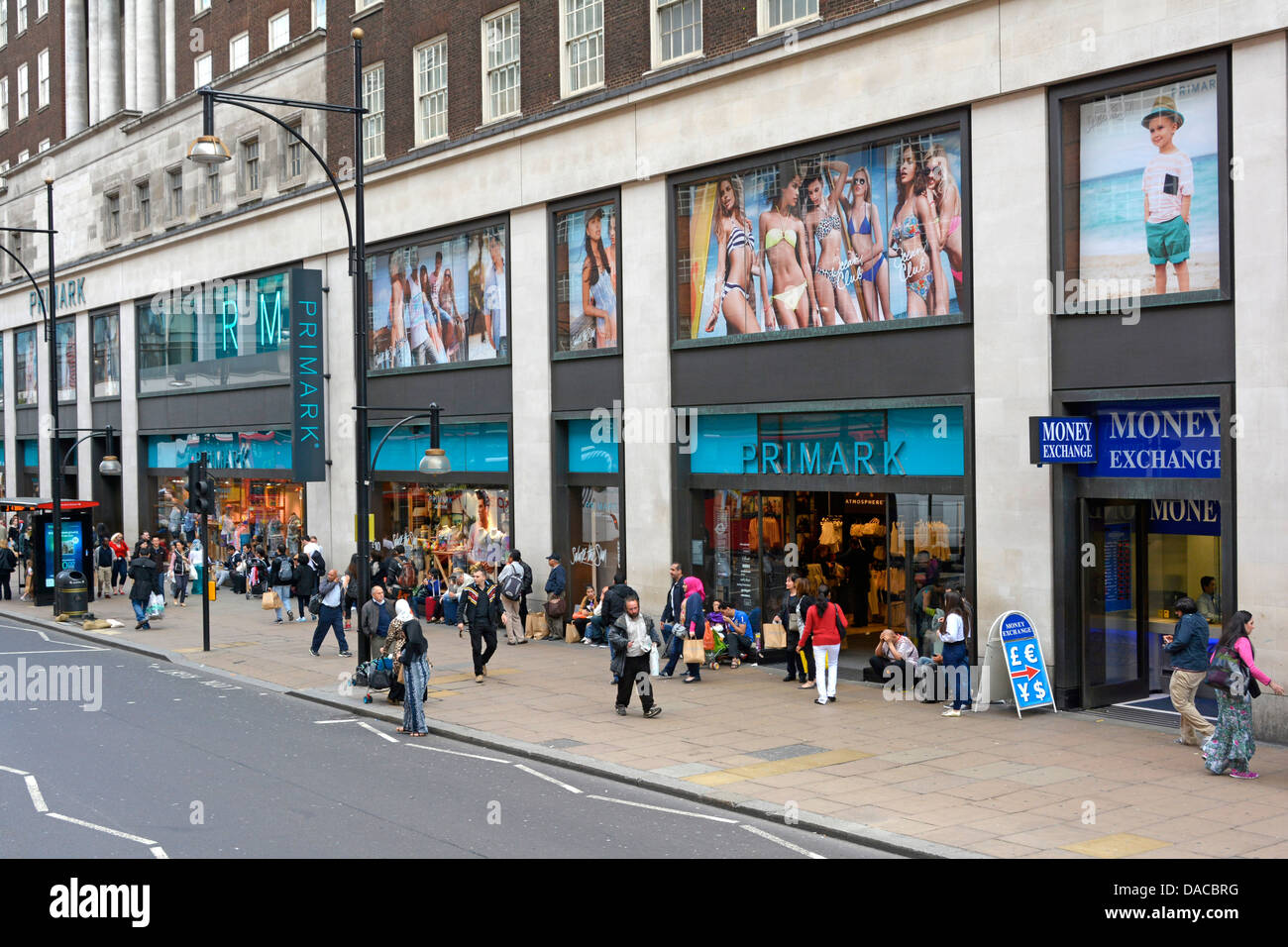 Primark clothing store in Oxford Street London - Stock Image