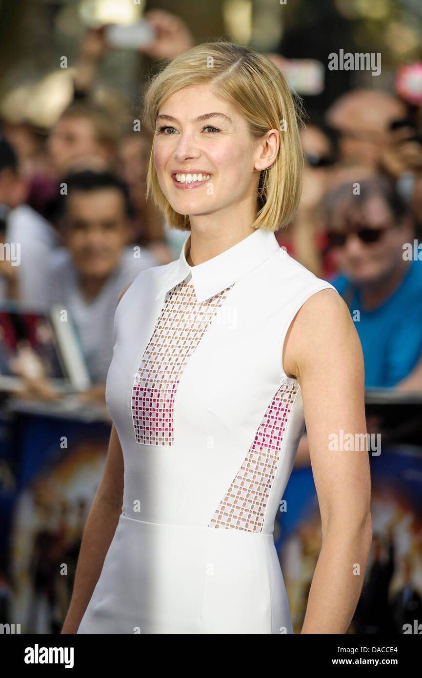 Rosamund Pike attends the World Premiere of The World's End on 10/07/2013 at Empire Leicester Square, London. Persons - Stock Image