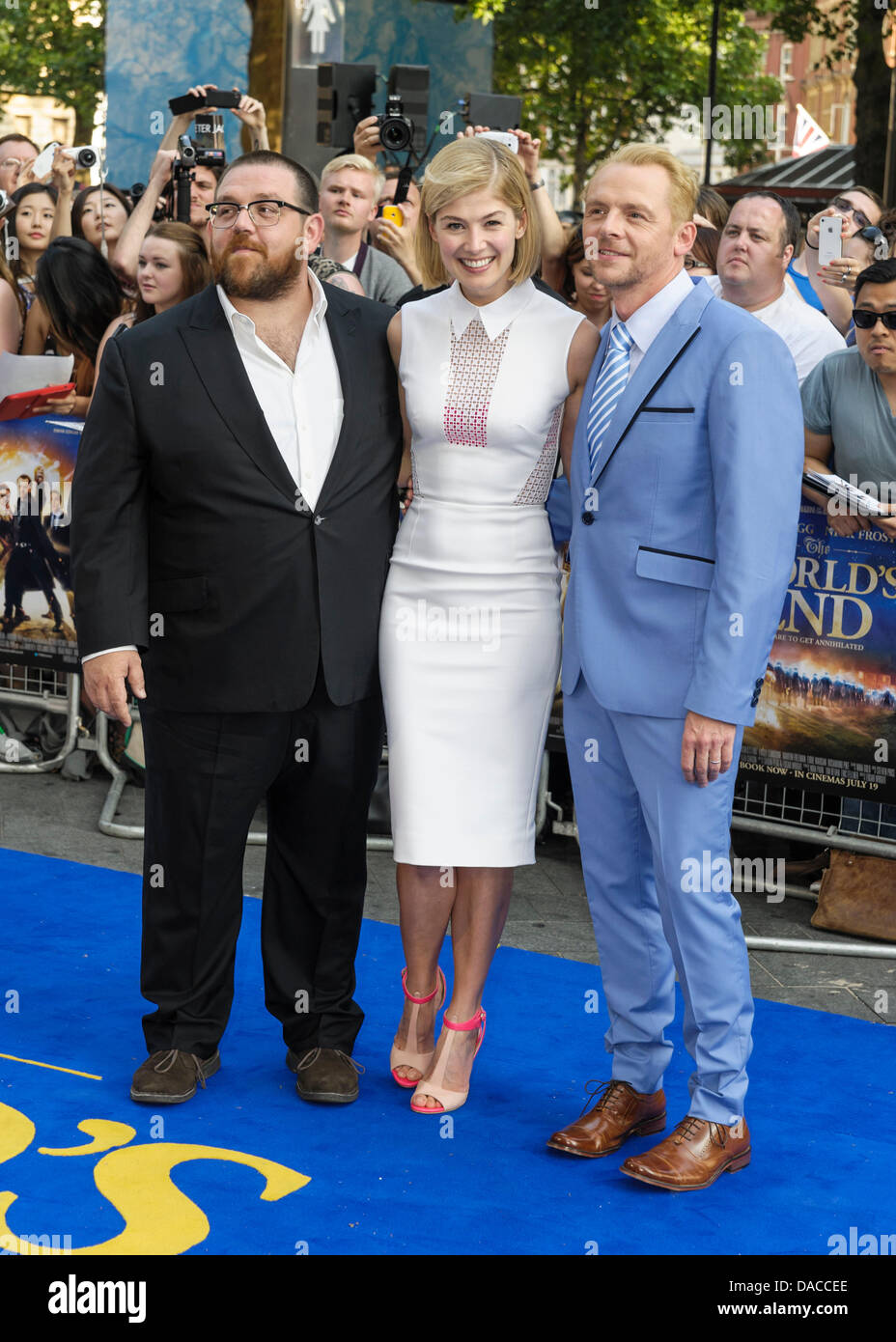 The Cast attends the World Premiere of The World's End on 10/07/2013 at Empire Leicester Square, London. Persons - Stock Image