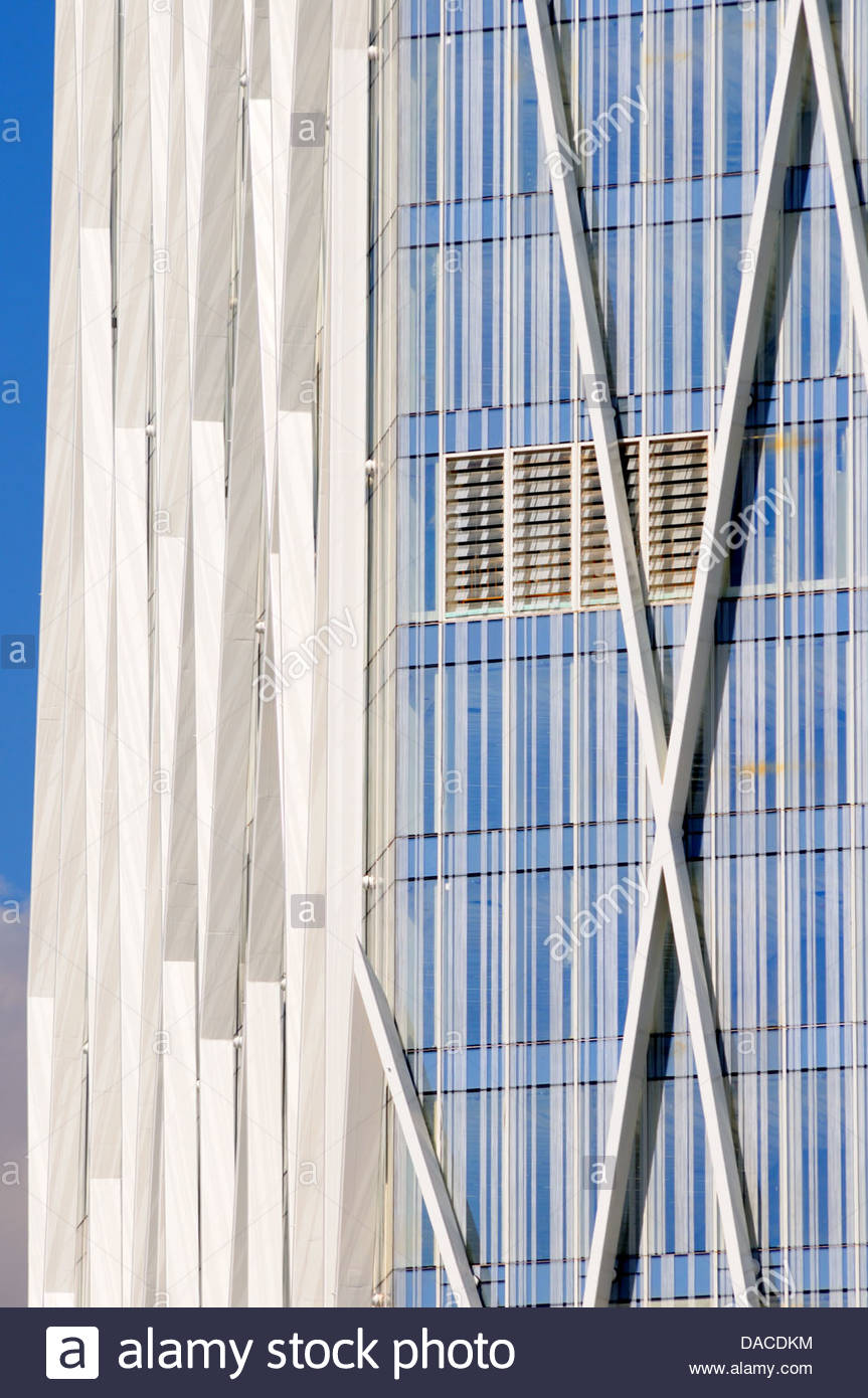 Close view of Movistar Headquarters building Stock Photo