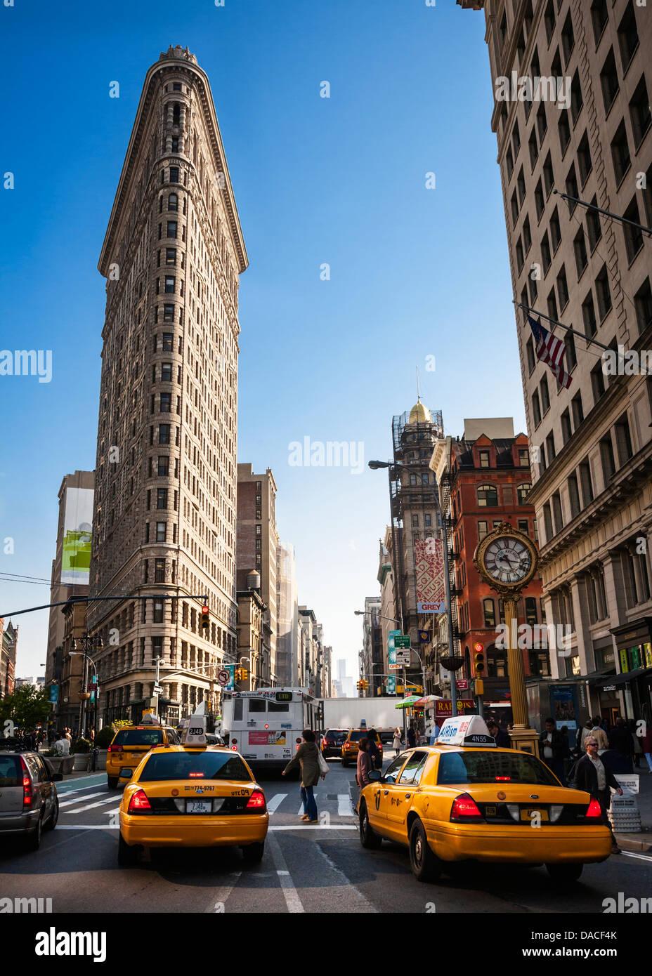 The Flatiron Building, 23rd Street, Manhattan, New York City, USA. - Stock Image