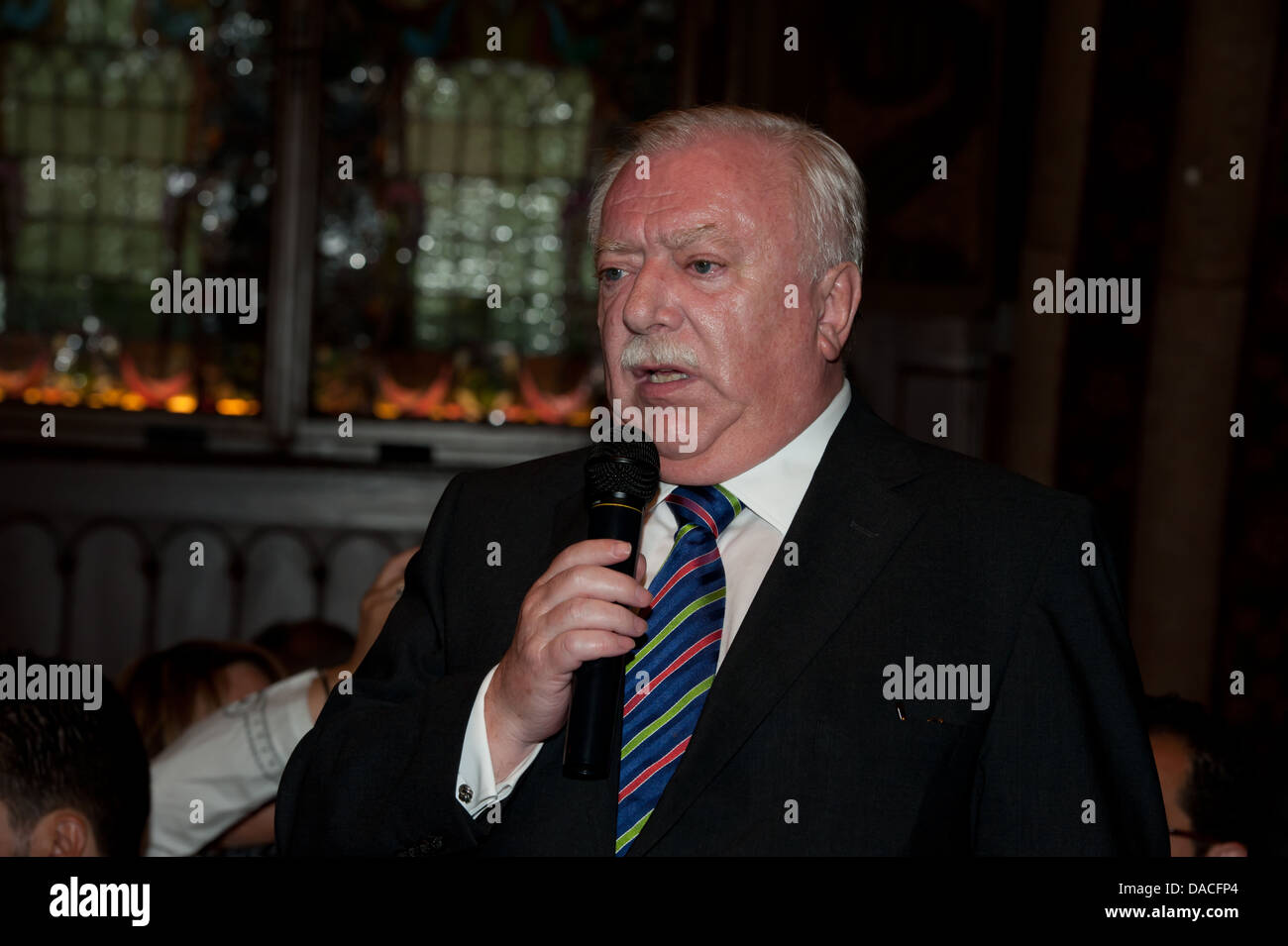 Dr. Michael Häupl, Mayor and Governor of Vienna speaking in presence of the Muslim Community. - Stock Image
