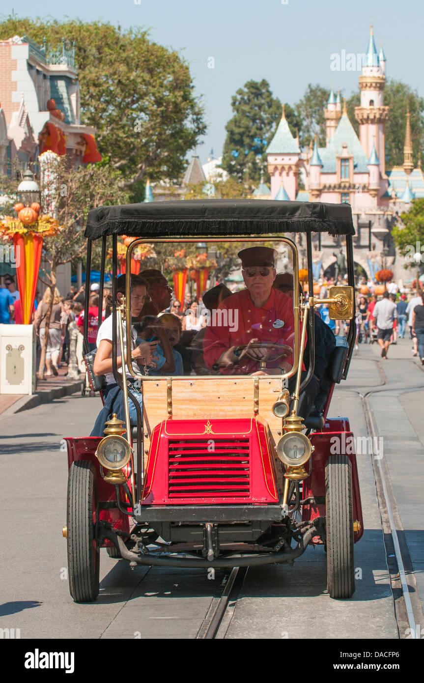 Old car ride Main street magic kingdom Disneyland, Anaheim Stock ...
