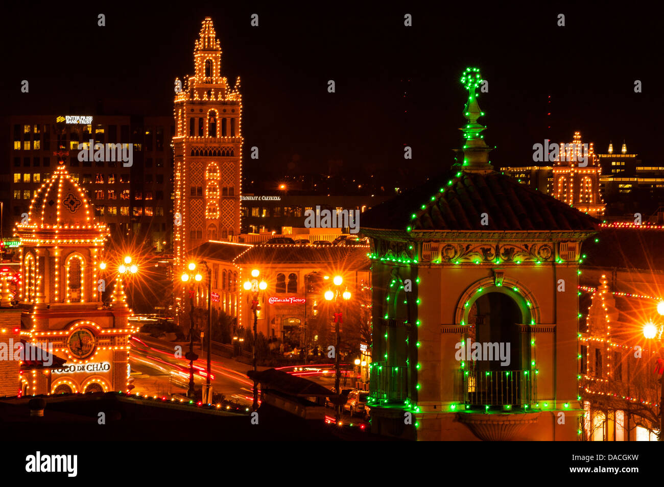 Holiday Lights, Country Club Plaza, Kansas City, Missouri, United ...
