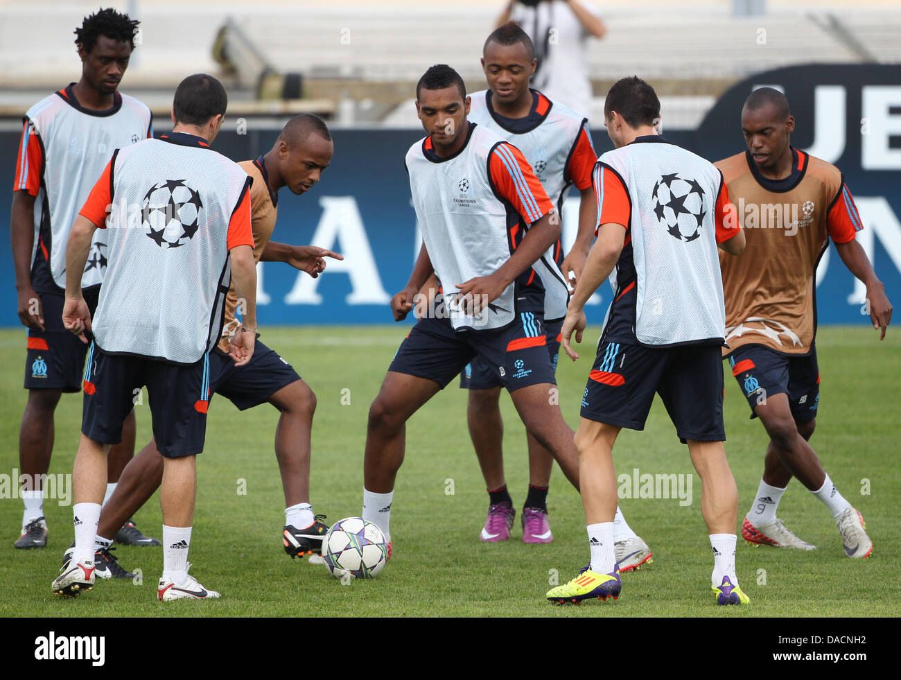 Omrani (M) of Olympique Marseille attends a training session at the Stade Velodrome in Marseille, France, 27 September - Stock Image