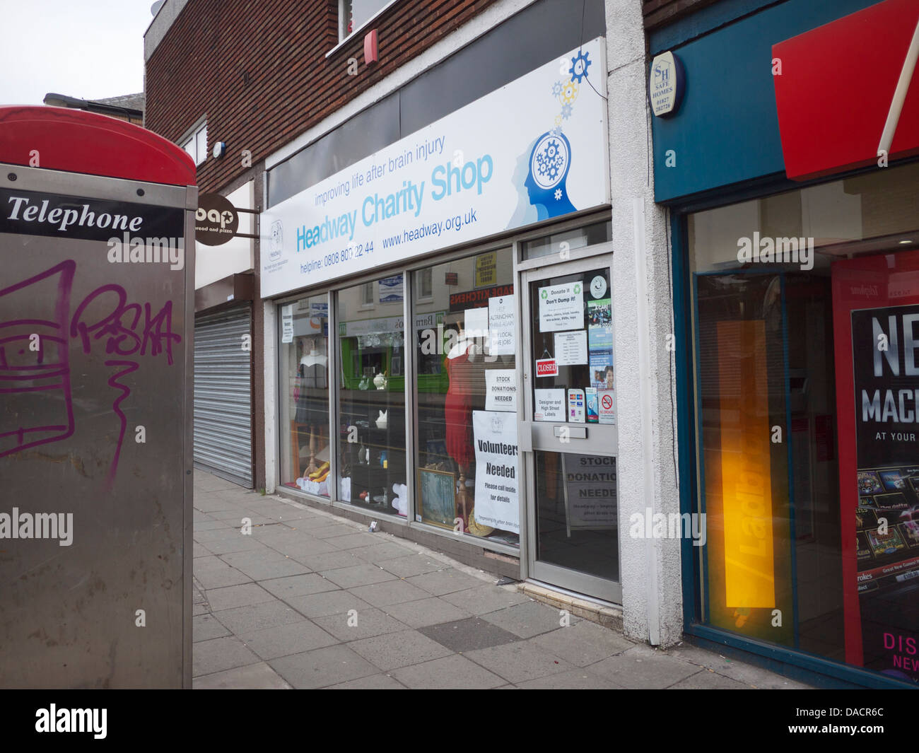 Headway Stock Photos Images Alamy 44 Sign Brown Charity Shop Image