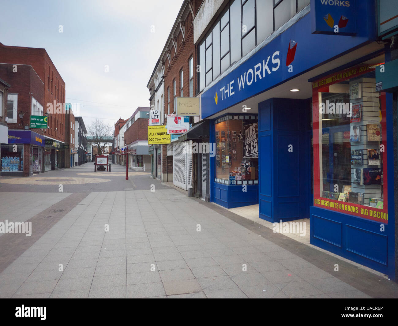 Decline of the High Street: empty hops - Stock Image
