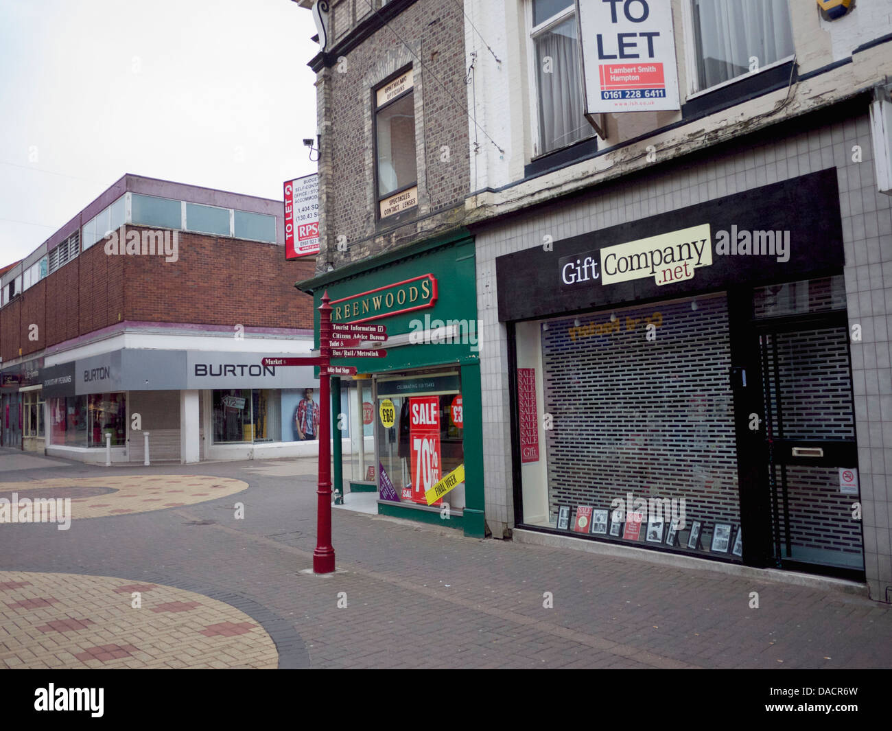 Decline of the high Street, Shop 'To Let' - Stock Image