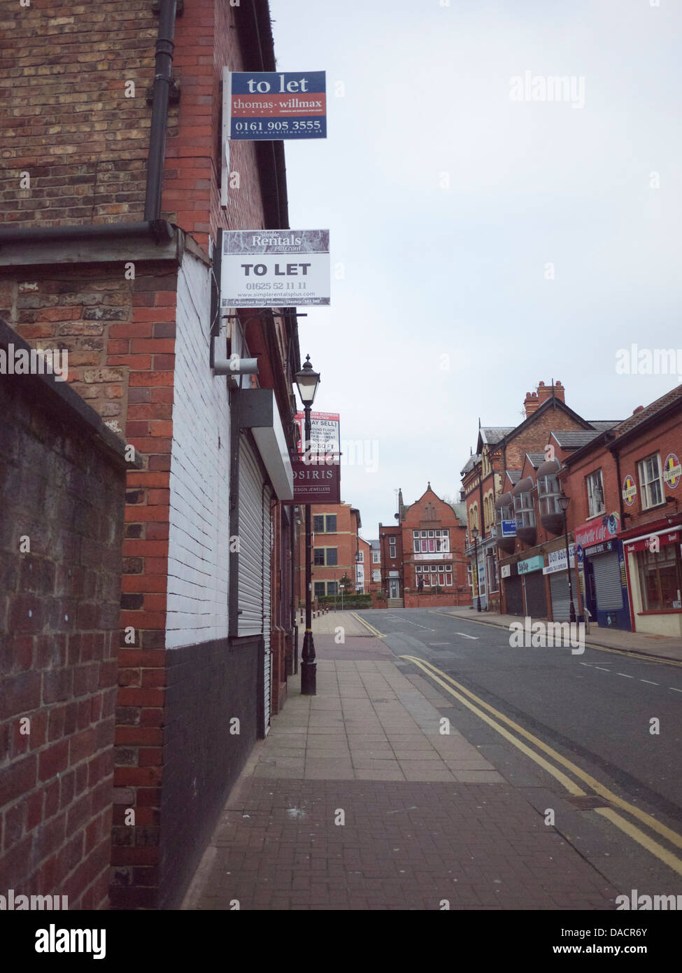 Decline of the High Street : vacant shops to let - Stock Image