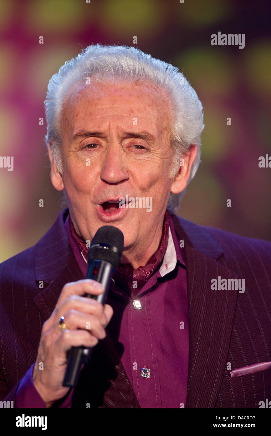 British folk singer Tony Christie performs during the rehearsal of the German television show 'musik fuer - Stock Image