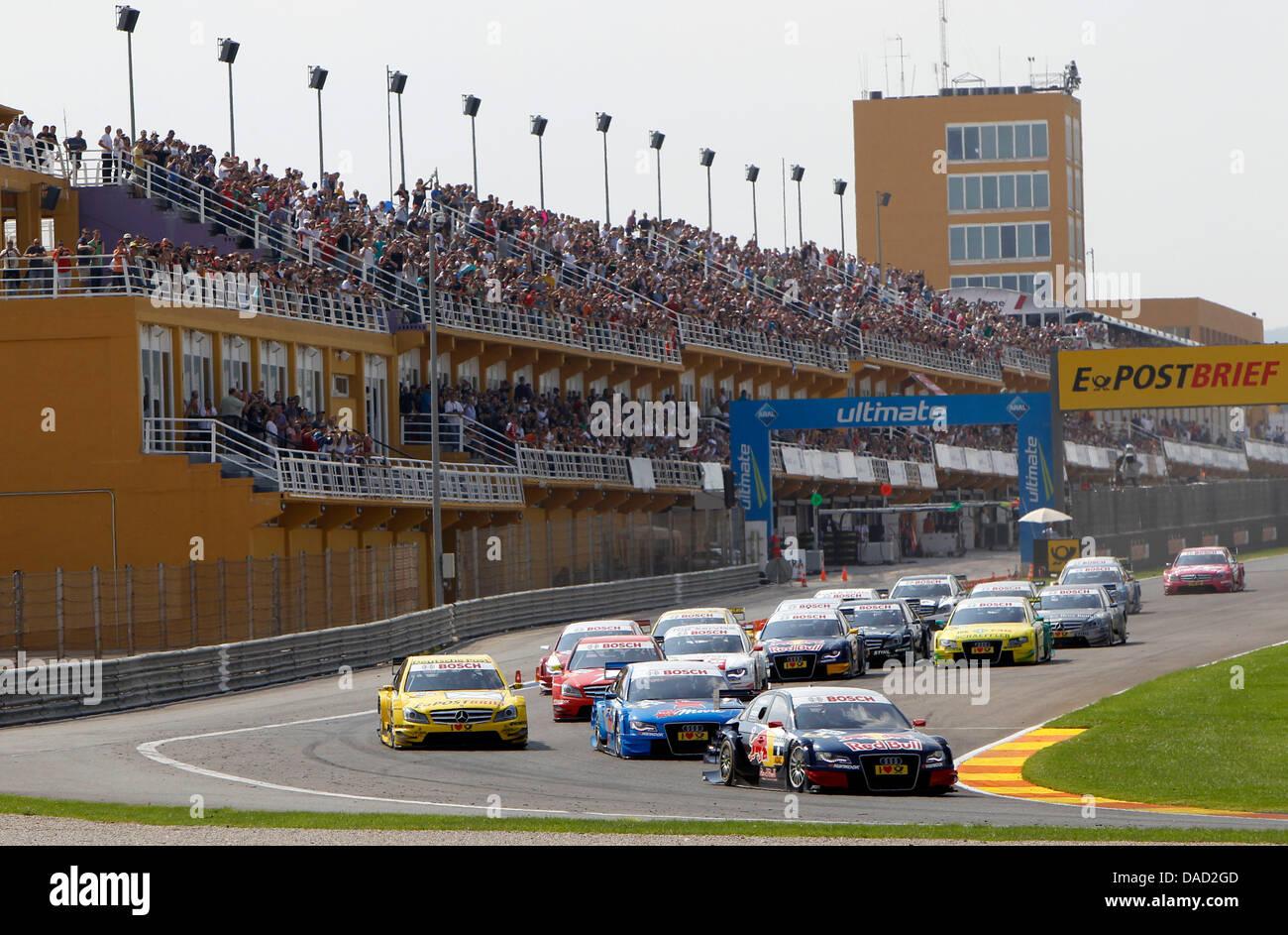 Swedish DTM-driver Mattias Ekstroem of Audi Sport Team Abt Sportsline is ahead during the German Touring Car Masters - Stock Image