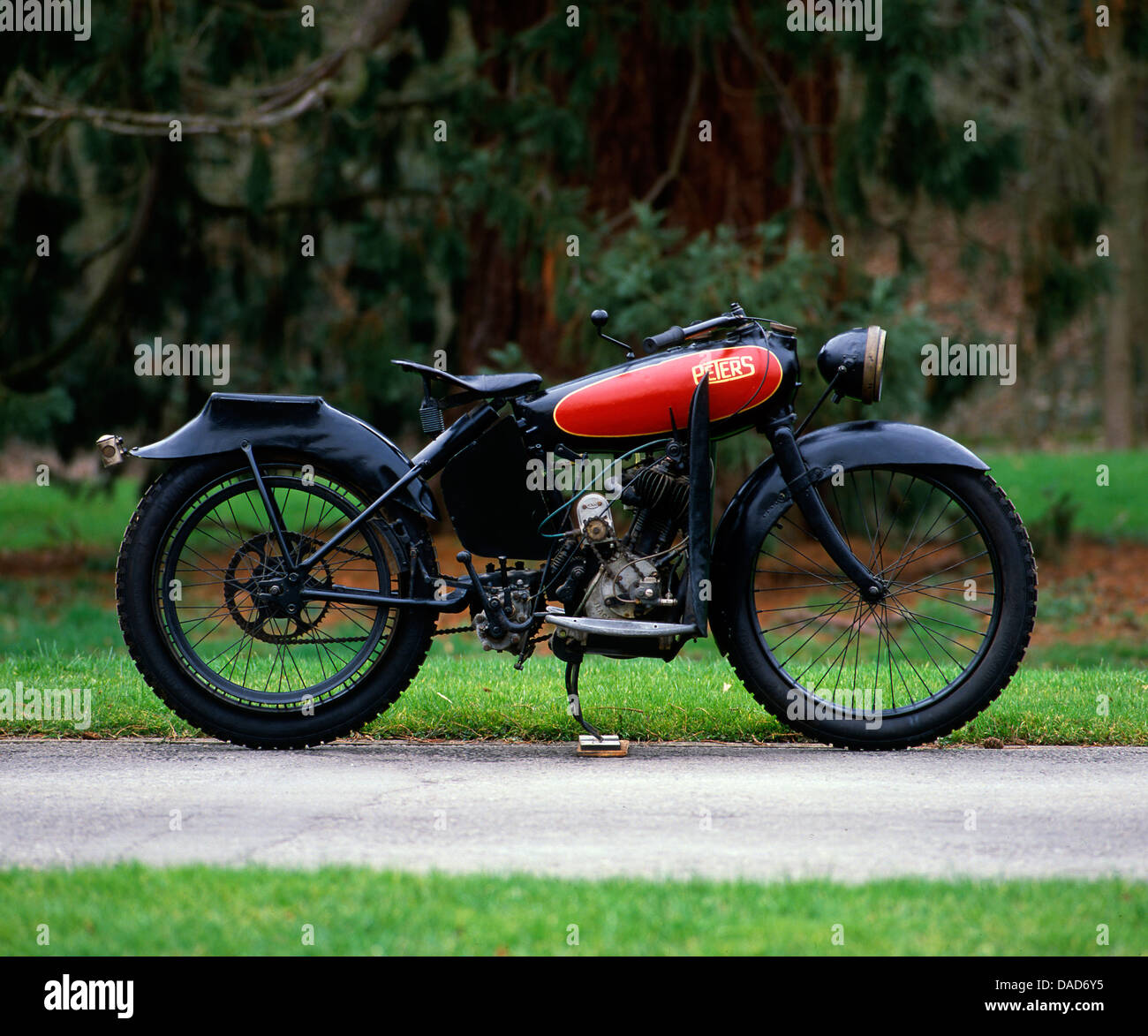 1920 Peters 2 3/4 hp motorcycle - Stock Image