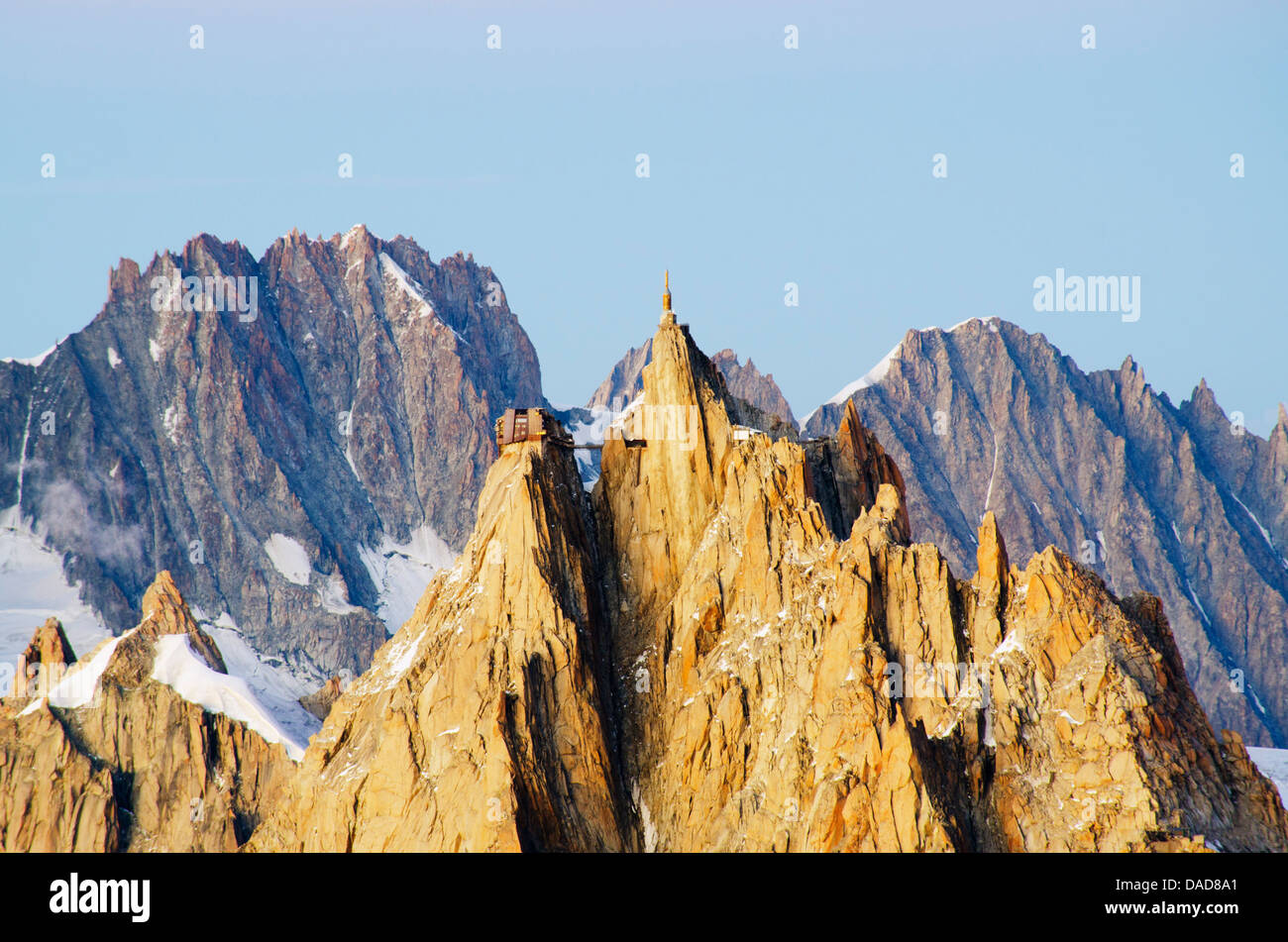 Aiguille du Midi cable car station, Haute-Savoie, French Alps, France, Europe - Stock Image