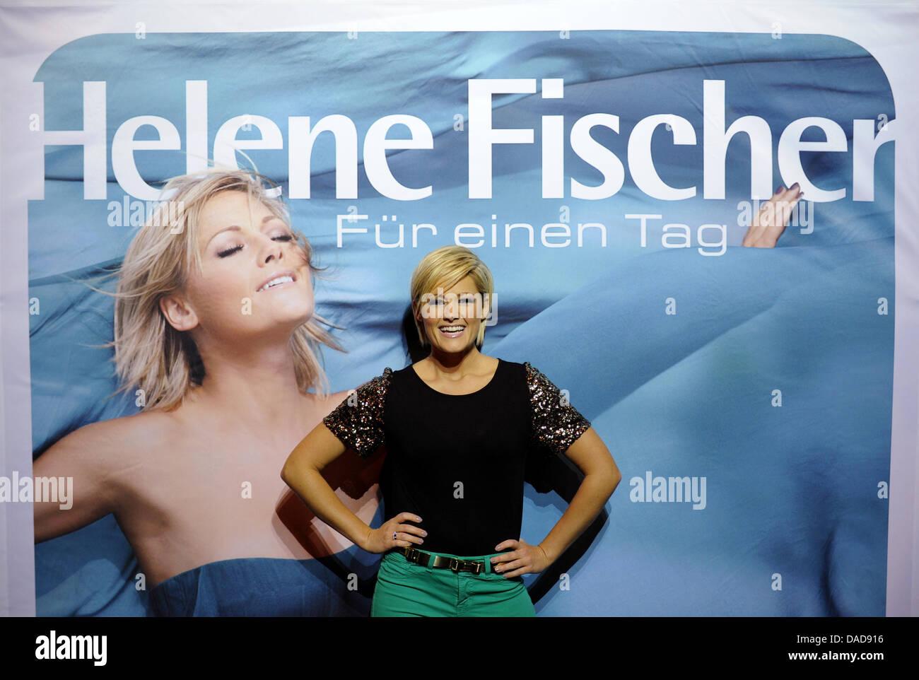 German Pop Singer Helene Fischer Poses For The Press In Stock Photo