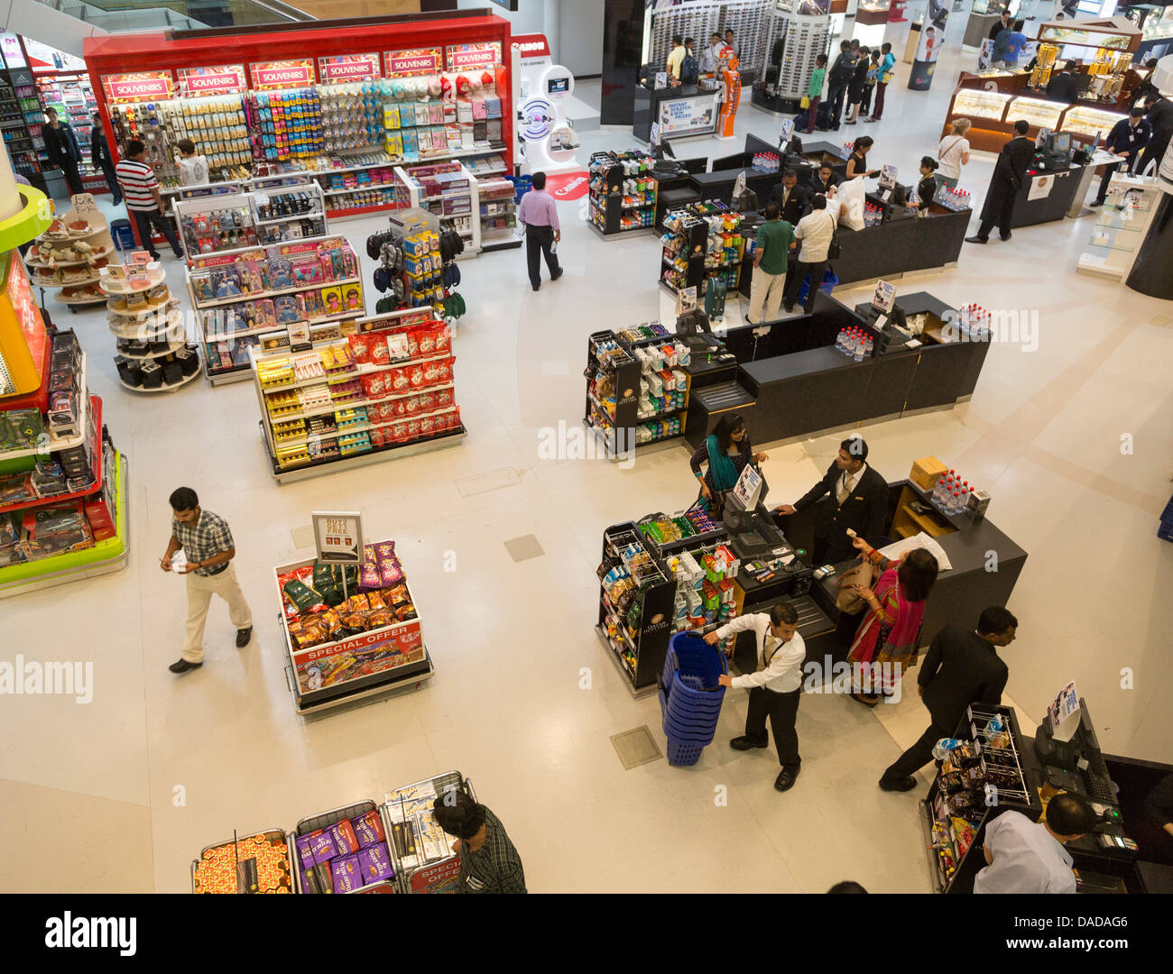 duty free shop, Doha airport, Qatar - Stock Image